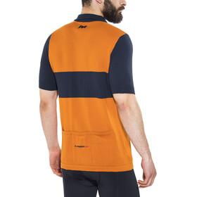 De Marchi X Eddy Merckx 1975 Liege Koszulka kolarska, krótki rękaw Mężczyźni pomarańczowy/niebieski